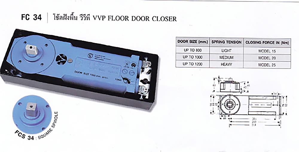 Bản lề phòng tắm  VVP FC34-25, bản lề phòng tắm kính, Phụ kiện nhôm kính, Tay nắm Cửa, Bản Lề Sàn