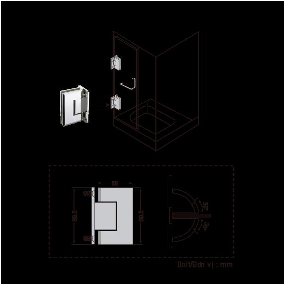 Bản Lề Phòng Tắm GMT, Bản Lề Phòng Tắm Kính, Giá Bản Lề Phòng tắm GMT, Bản Lề Sàn GMT