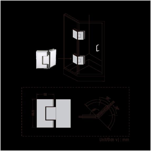 Ban-le-phong-tam-BJ-202-US32, Bản lề sàn GMT, Giá Bản lề sàn GMT, Phu Kiện cửa kính