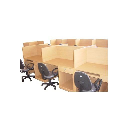 Vách ngăn gỗ văn phòng hiện đại
