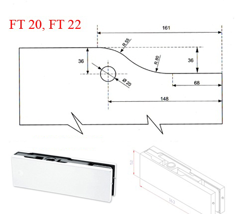 Kẹp kính VVP FT22