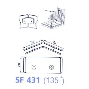 Kẹp kính phòng tắm 135 độ VVP